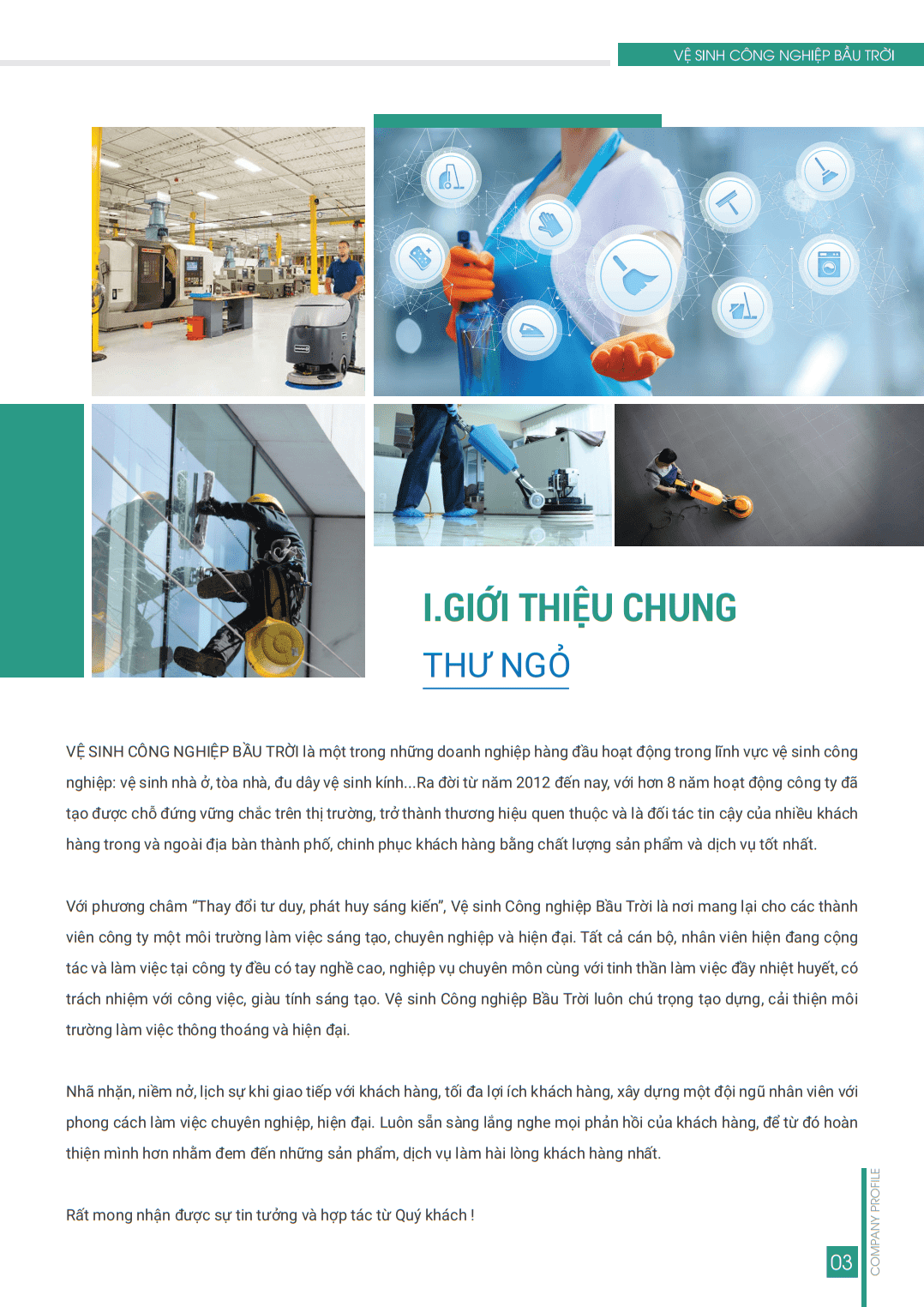 Vệ sinh công nghiệp - Thư Ngỏ - SKY CLEANING SERVICES - PROFILE 3
